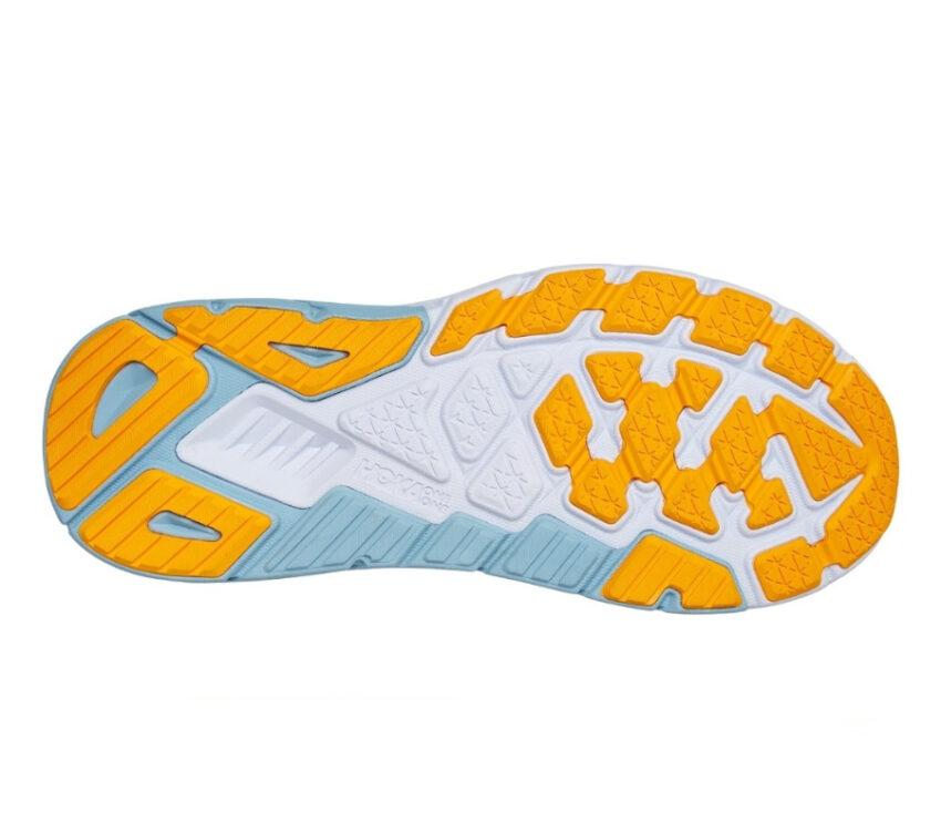 suola scarpa da running stabile Hoka arahi 5 blu