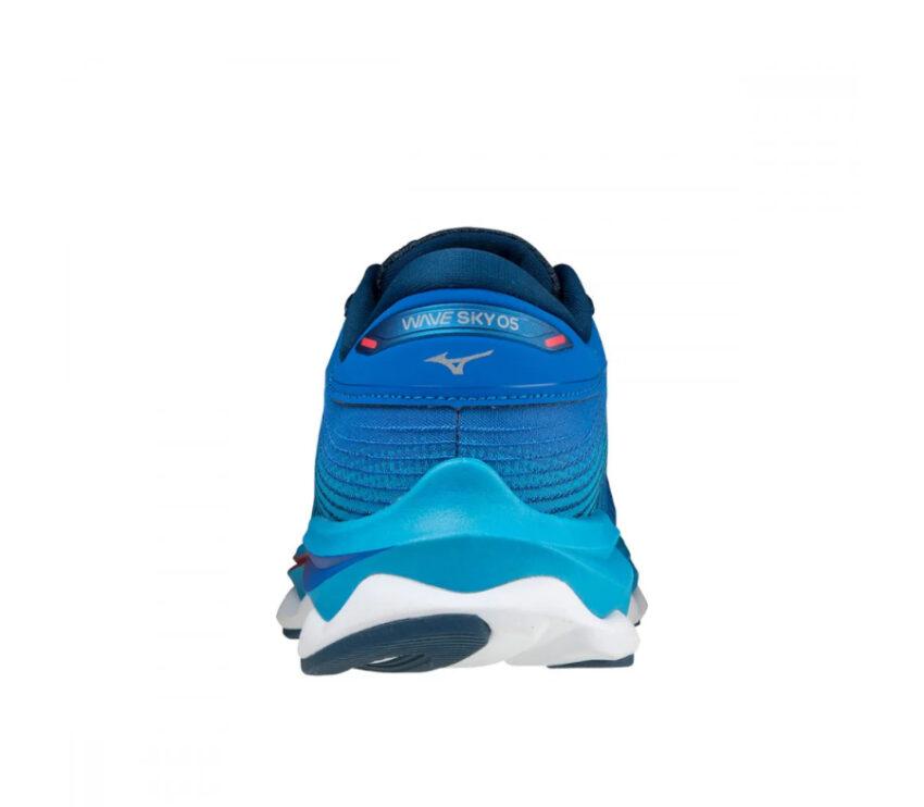 tallone scarpa da running da donna mizuno wave sky 5 blu