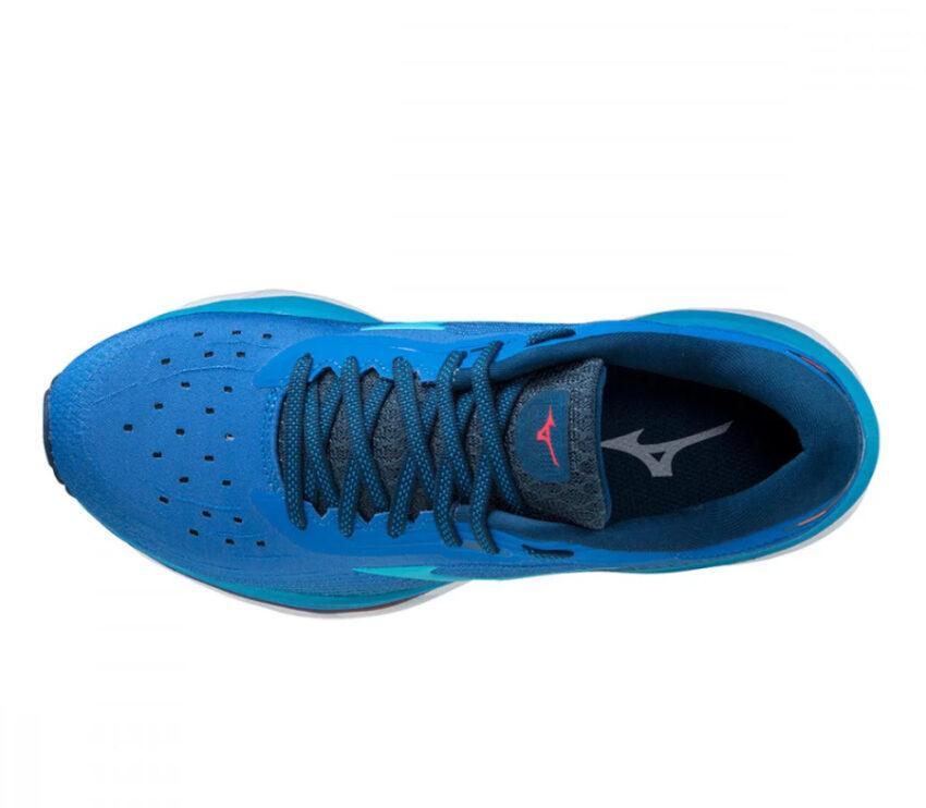 tomaia scarpa da running da donna mizuno wave sky 5 blu