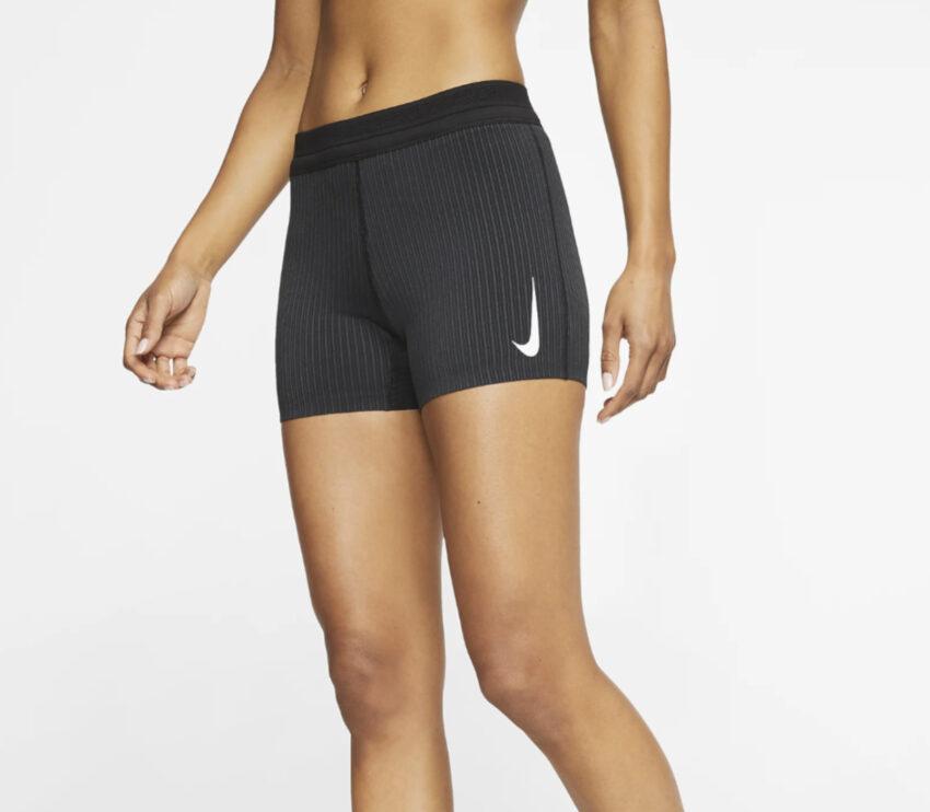 shorts da running per donna nike aeroswift nero