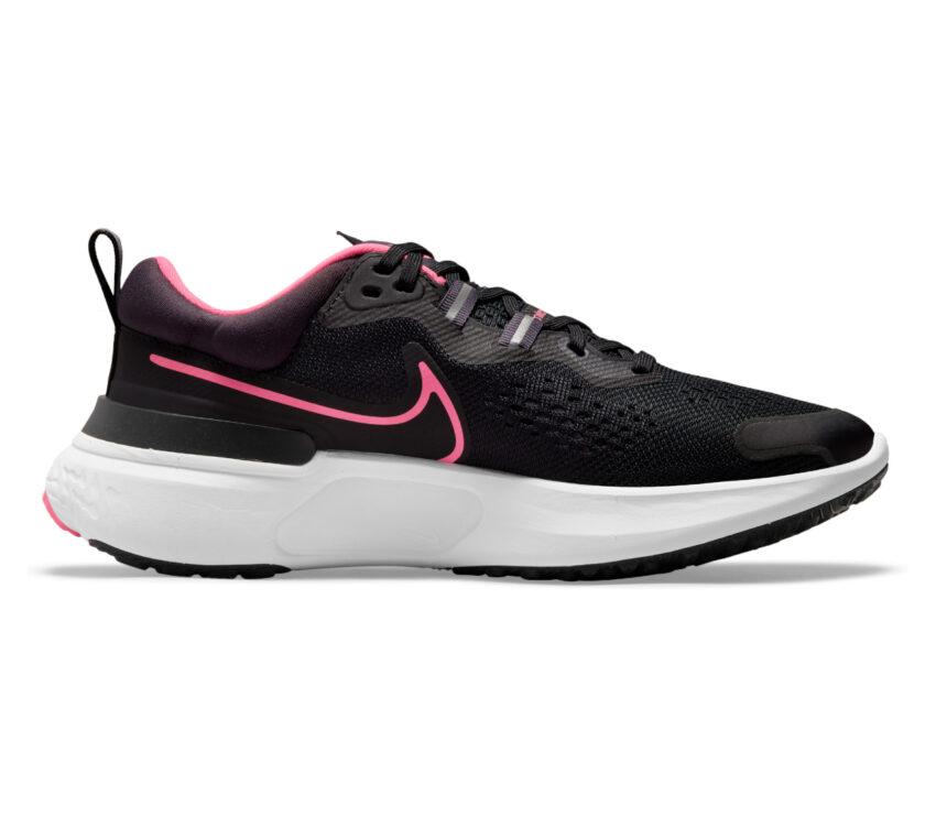 scarpa da running nike react miler donna nera e rosa