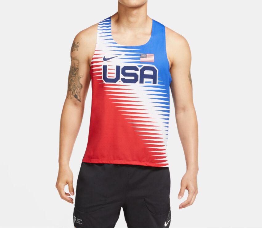 canotta da running uomo nike aeroswift team USA