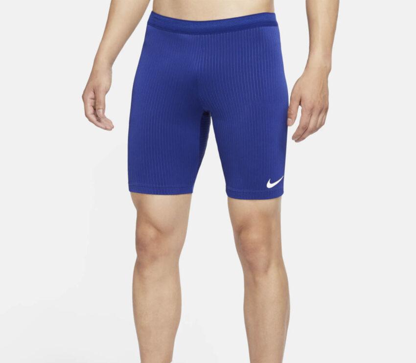 pantaloncino aderente nike da uomo colore blu