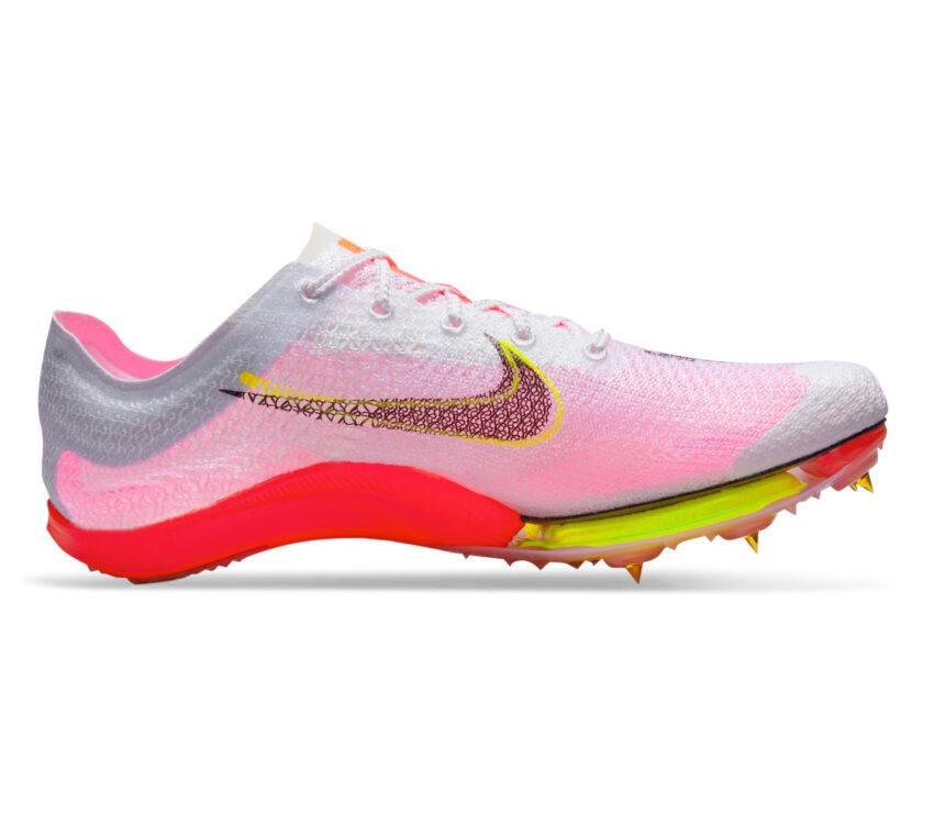 scarpe da mezzofondo nike zoom victory kf bianche e rosa