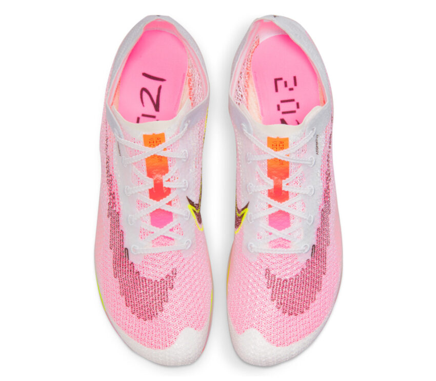 tomaia scarpe da mezzofondo nike zoom victory kf bianche e rosa