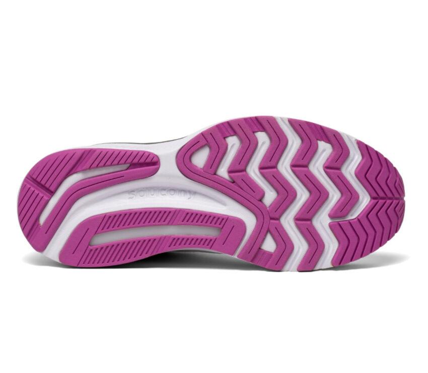 suola scarpa running donna saucony guide 14 bianca e nera