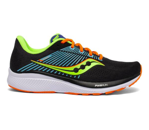 scarpa da running stabile per pronatori saucony guide 14 nera e arancio