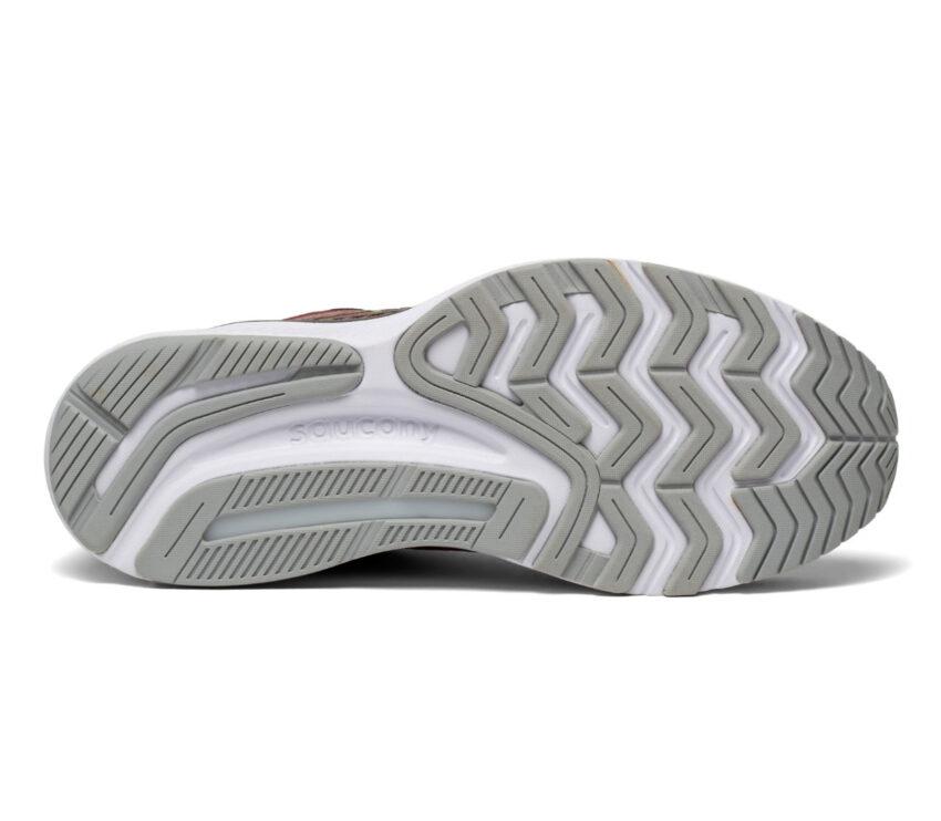 suola scarpa da running stabile per pronatori saucony guide 14 bordeaux