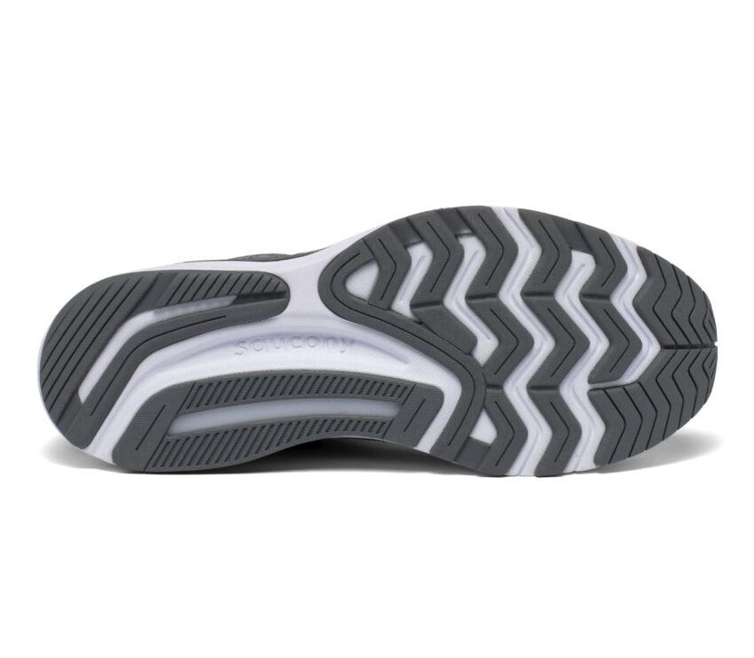 suola scarpa da running stabile per pronatori saucony guide 14 grigia