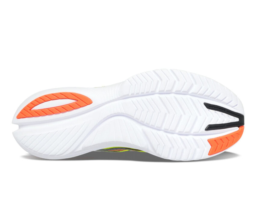 suola scarpa da running donna saucony kinvara 12 fluo