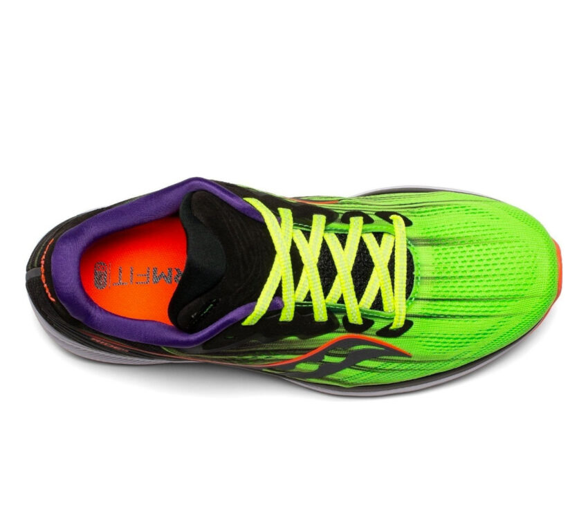 tomaia scarpa running donna saucony ride 14 verde fluo