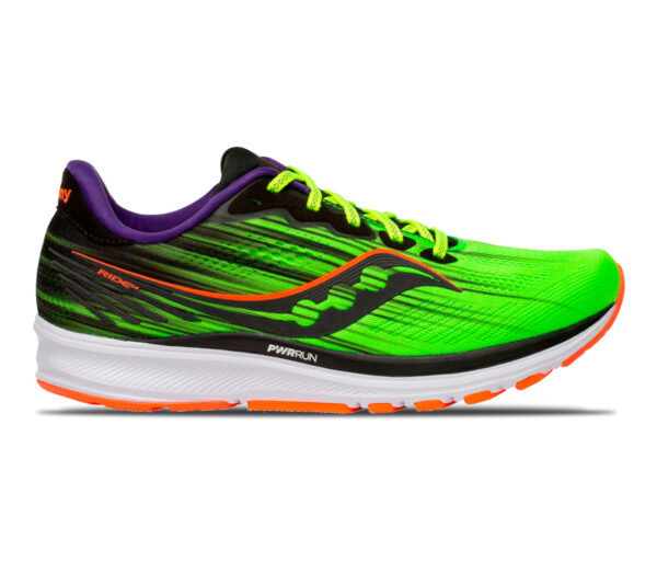 scarpa running uomo saucony ride 14 verde fluo