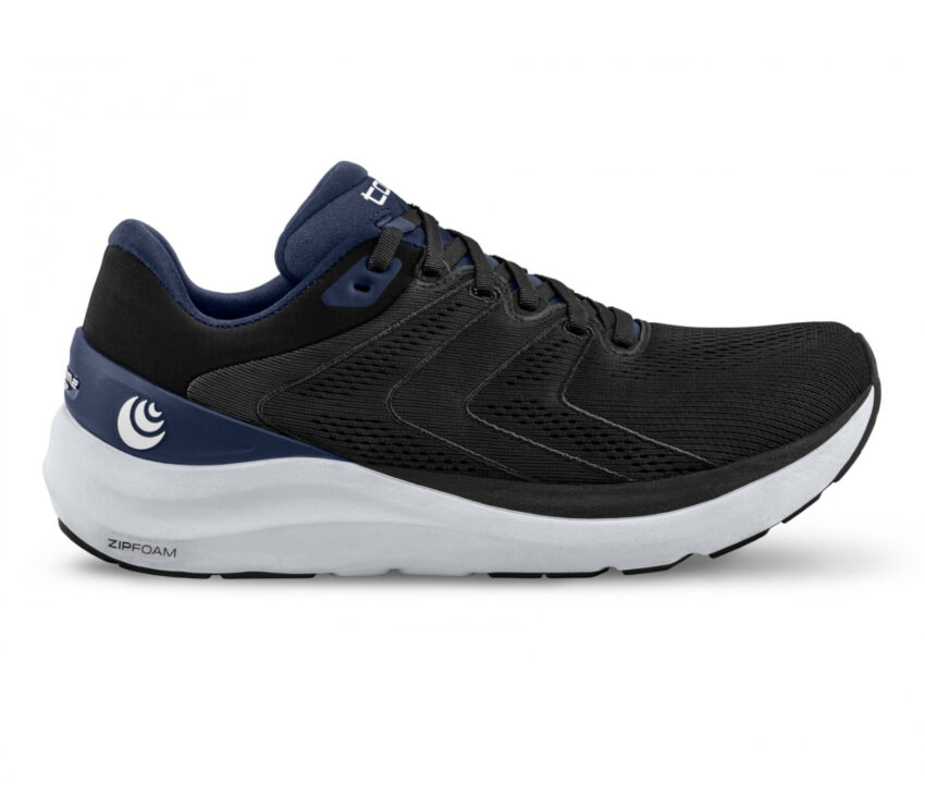 scarpa da running donna ammortizzata topo phantom 2 nera e viola