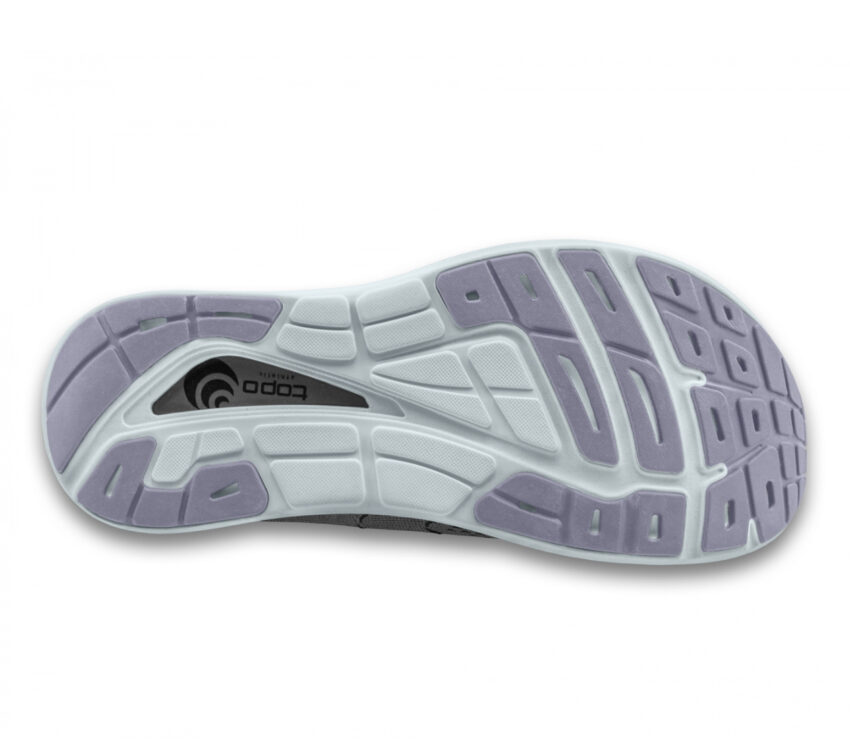 suola scarpa da running donna ammortizzata topo phantom 2 grigia e viola