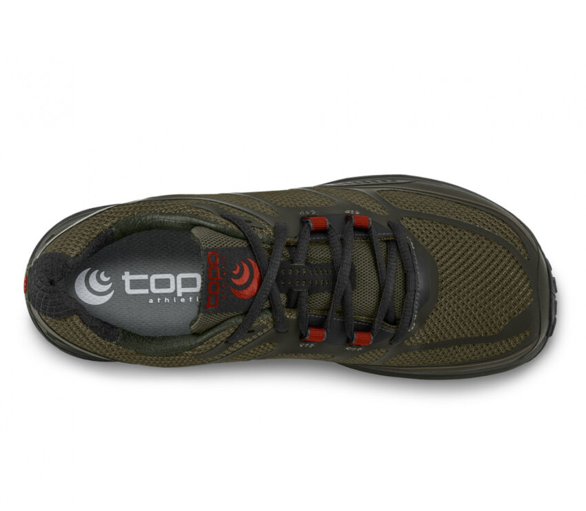 tomaia scarpa da trail running uomo topo terraventure 2 oliva