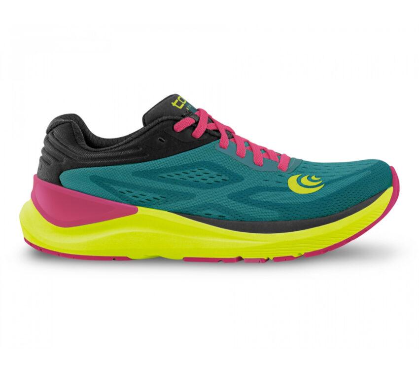 scarpa da running donna topo ultrafly 3 verde acqua