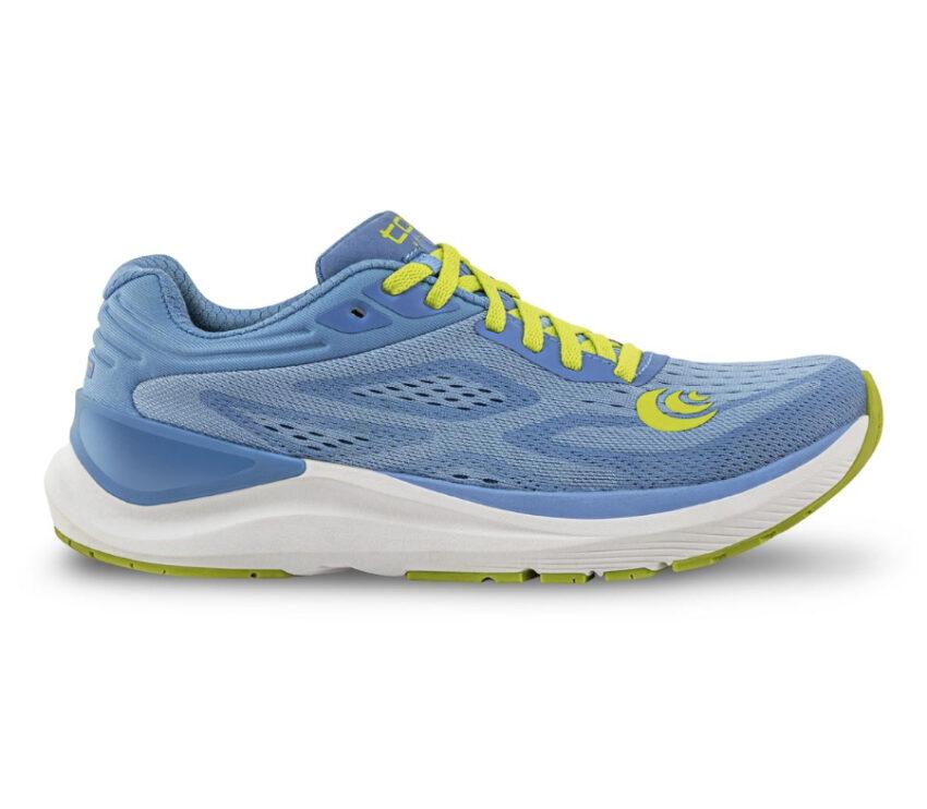 scarpa da running donna topo ultrafly 3 viola e lime