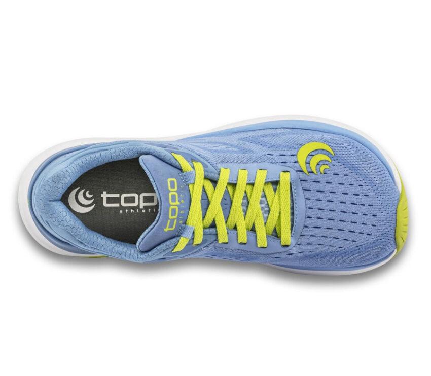 tomaia scarpa da running donna topo ultrafly 3 viola e lime