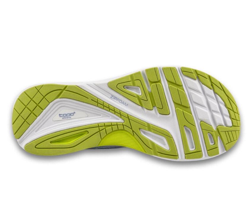 suola scarpa da running donna topo ultrafly 3 viola e lime