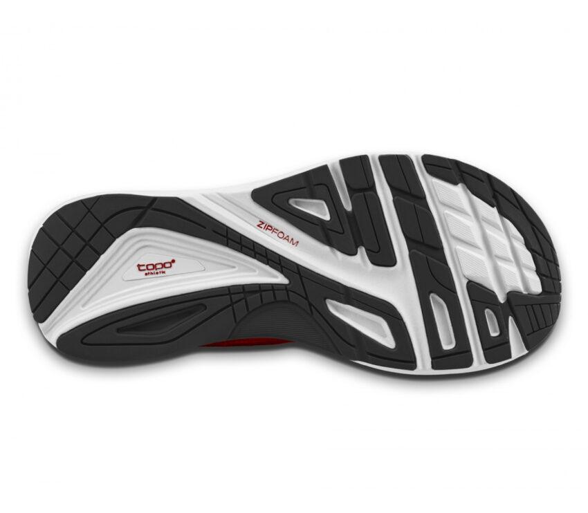 suola scarpa da running topo ultrafly 3 rossa da uomo
