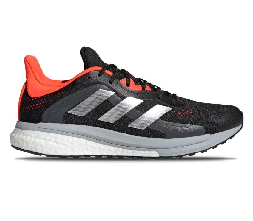 scarpa da running stabile da uomo adidas solar glide 4 st nera e rossa