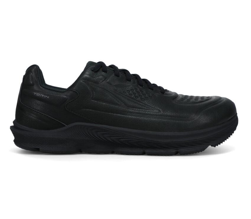 scarpa running in pelle altra torin 5 leather nera