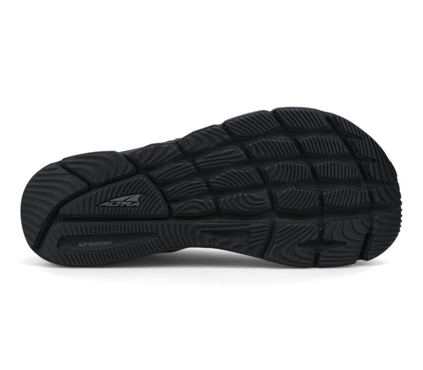suola scarpa running in pelle altra torin 5 leather nera