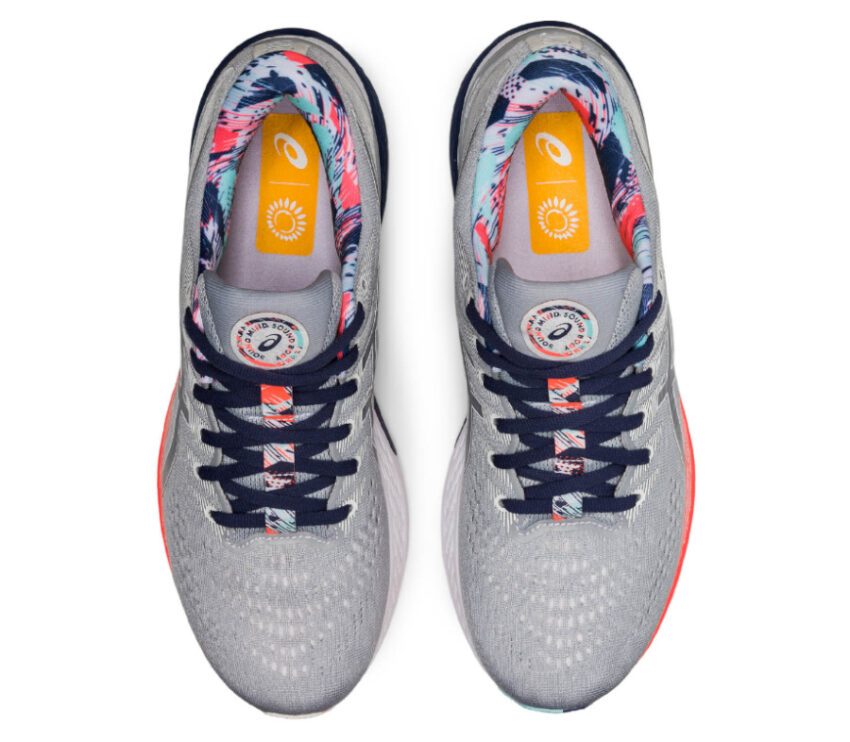 scarpa running pronatori asics kayano 28 uomo grigio e rosa