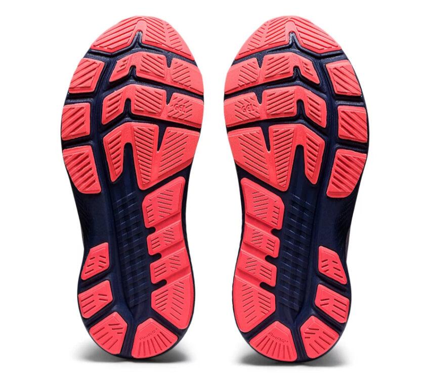 suola scarpa da running donna stabile e leggera asiks kayano lite 2 blu e rosa