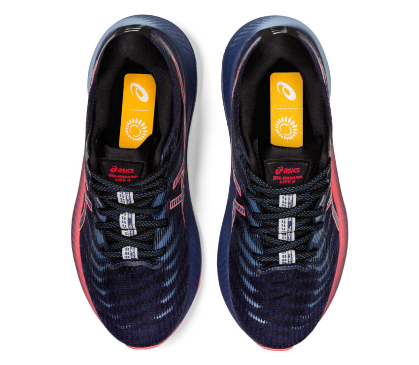 tomaia scarpa da running donna stabile e leggera asiks kayano lite 2 blu e rosa
