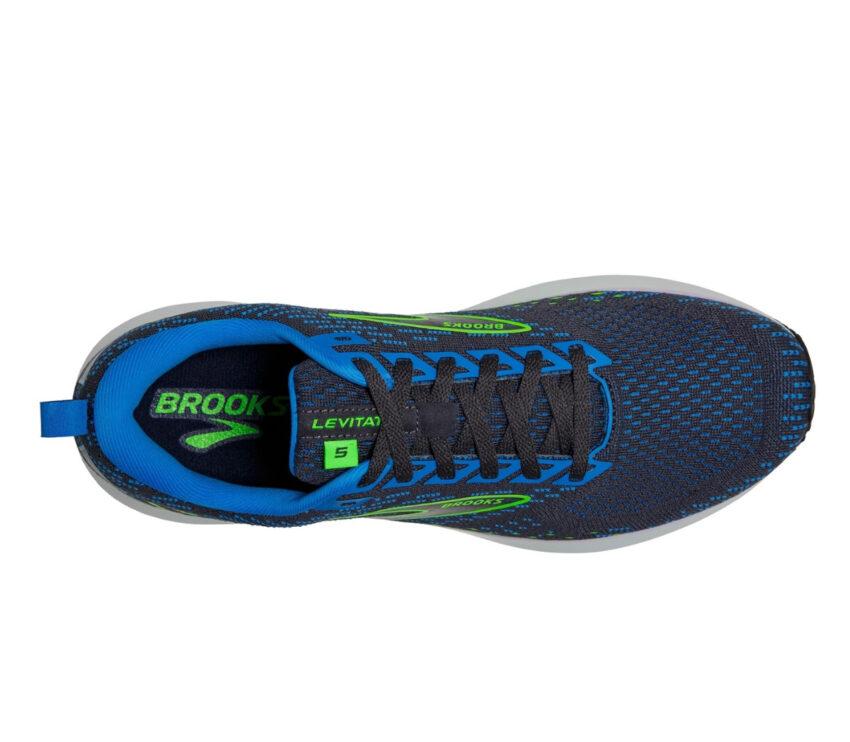 tomaia scarpa da running reattiva Brooks levitate 5 uomo blu