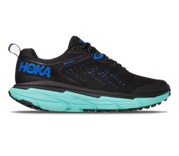 scarpa trail running donna hoka challenger 6 atr goretex nera e azzurra