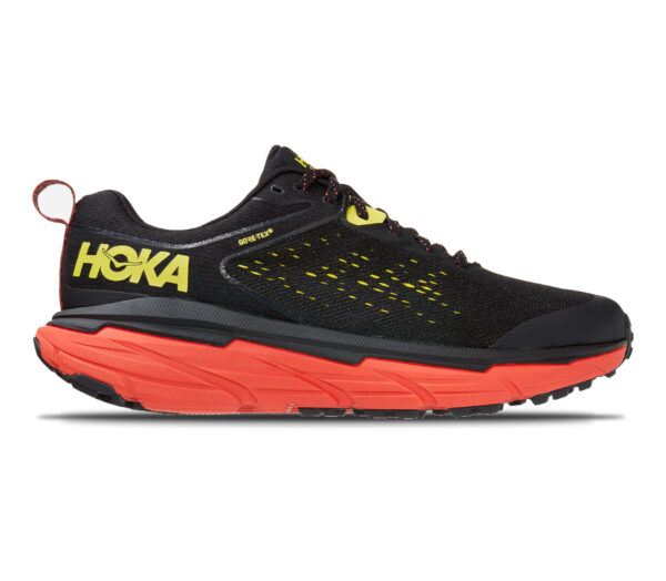 scarpa trail running uomo hoka challenger 6 atr goretex nera e rossa