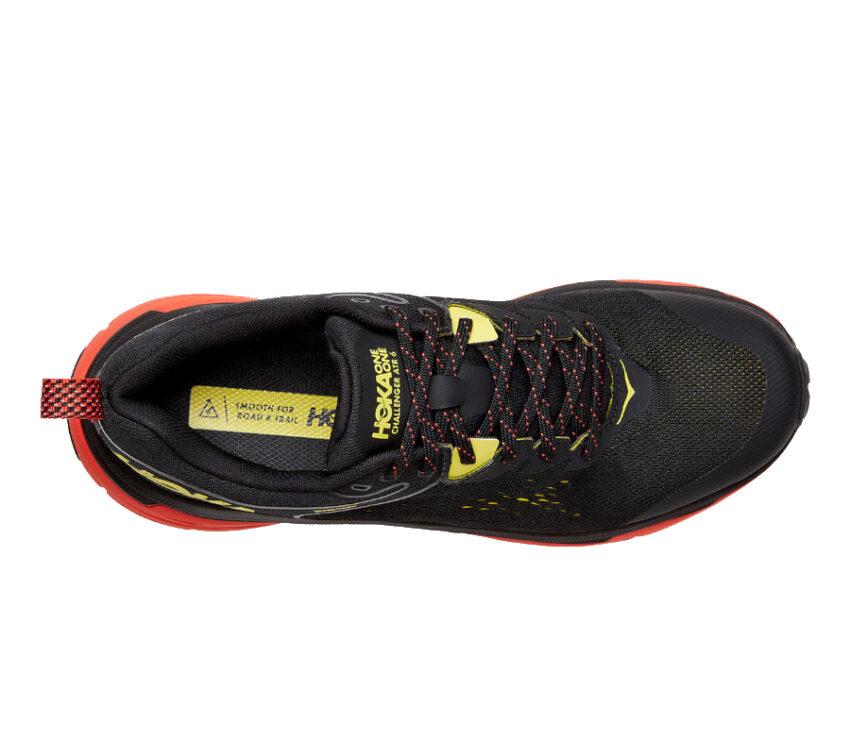 tomaia scarpa trail running uomo hoka challenger 6 atr goretex nera e rossa