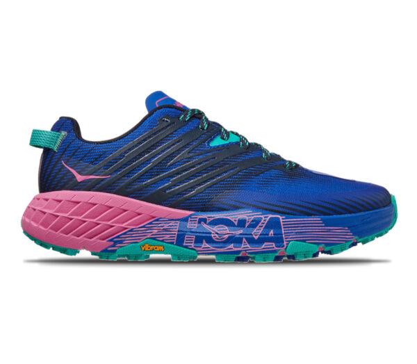 scarpa da trail running donna Hoka speedgoat 4 blu e rosa