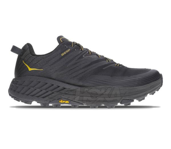 scarpa da trail running in goretex hoka speedgoat 4 gtx nera da uomo