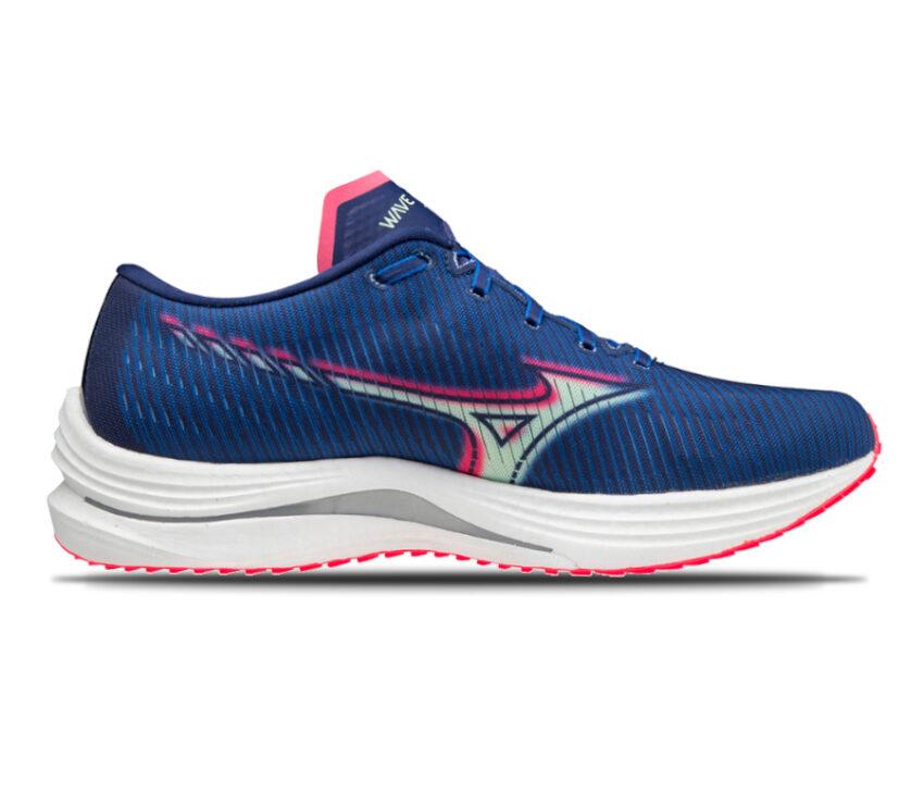 scarpa running reattiva mizuno wave rebellion blu