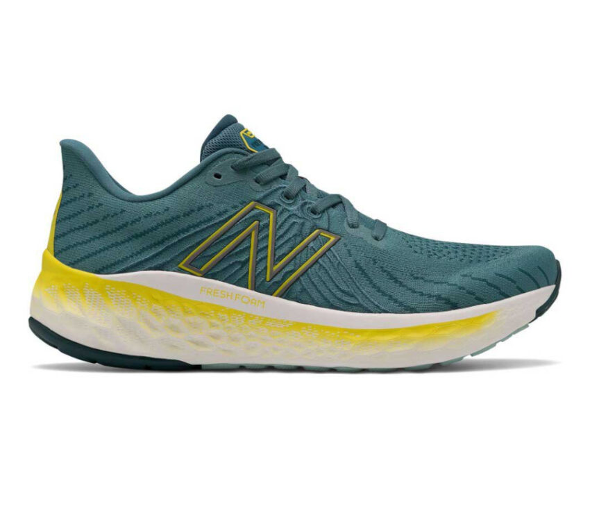 scarpa running ammortizata uomo new balance vongo v5 blu e gialla
