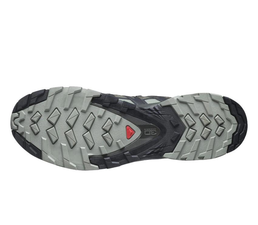 suola grip scarpa da trail running salomon xa pro 3d v8 verde scuro