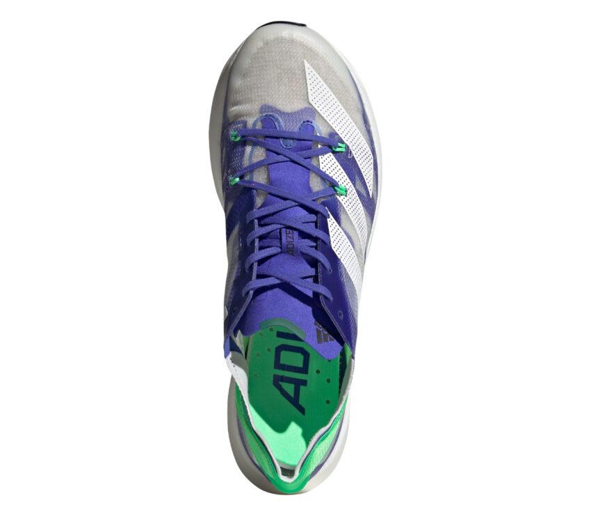 tomaia scarpa running reattiva adizero prime x viola e grigia