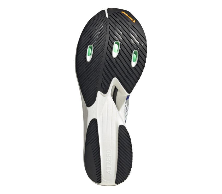 suola scarpa running reattiva adizero prime x viola e grigia