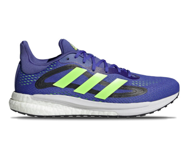 scarpa da running uomo adidas solar glide 4 blu e fluo