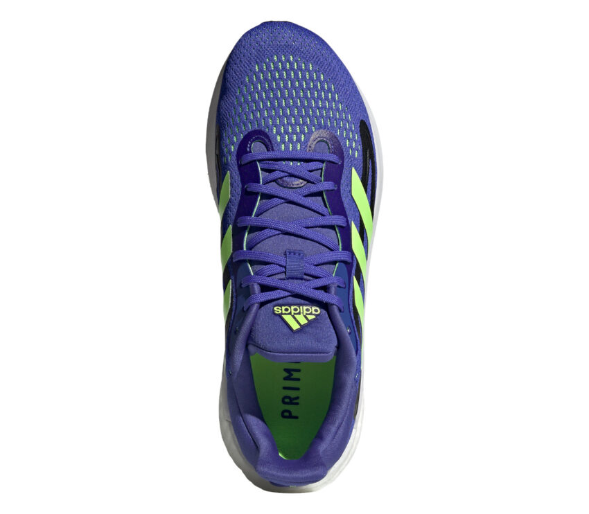 tomaia scarpa da running uomo adidas solar glide 4 blu e fluo