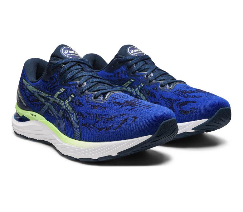 coppia scarpa da running uomo ammortizzata asics cumulus 23 blu