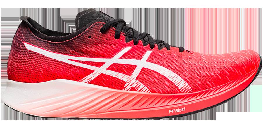 asics magic speed scarpe reattive da maratona in fibra di carbonio