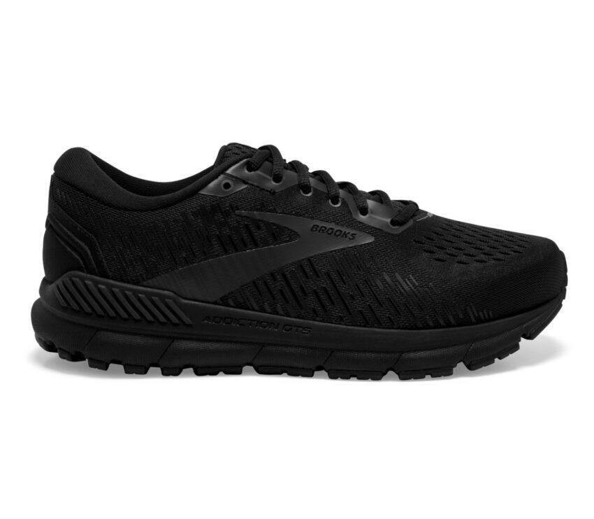 scarpa da running donna pronatrice con calzata larga brooks addiction gts 15 nera