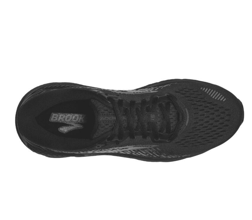 tomaia scarpa da running donna pronatrice con calzata larga brooks addiction gts 15 nera