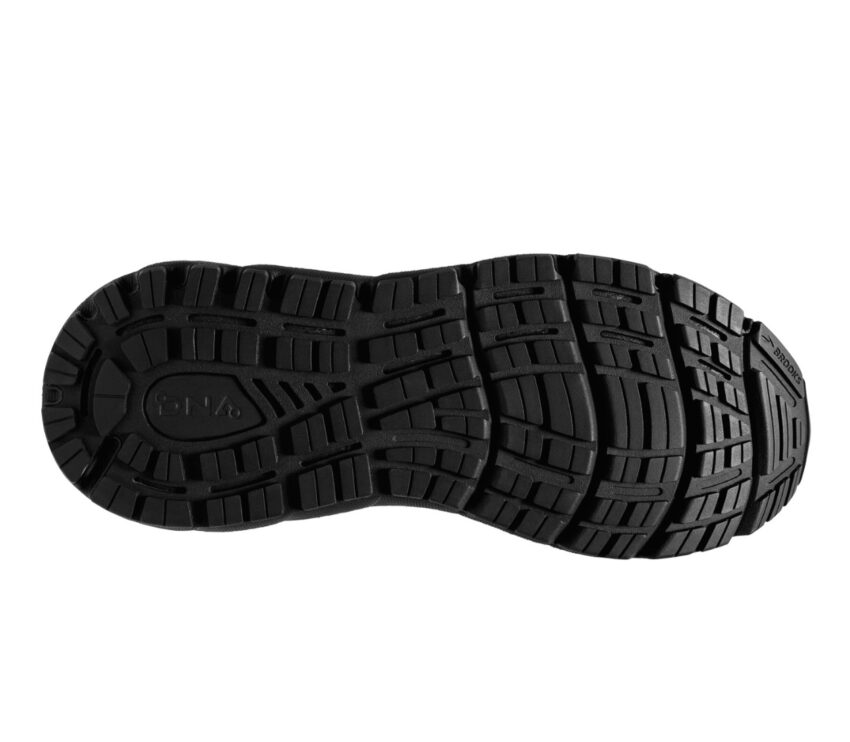 suola scarpa da running donna pronatrice con calzata larga brooks addiction gts 15 nera