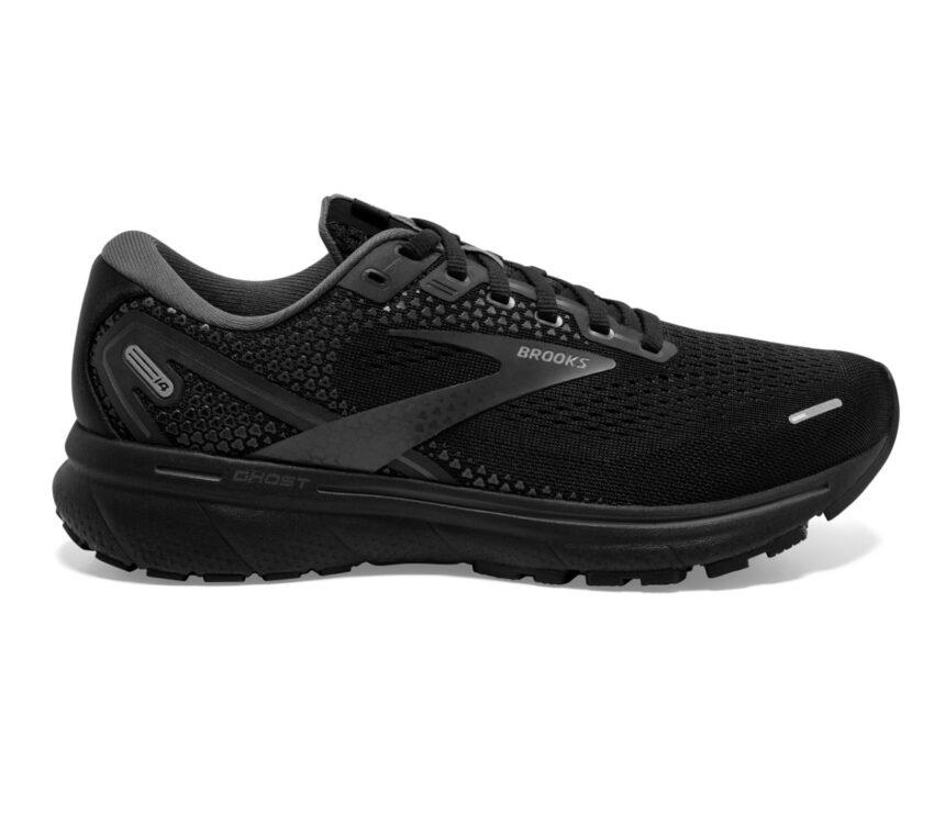 scarpa da running neutra pianta larga brooks ghost 14 nera