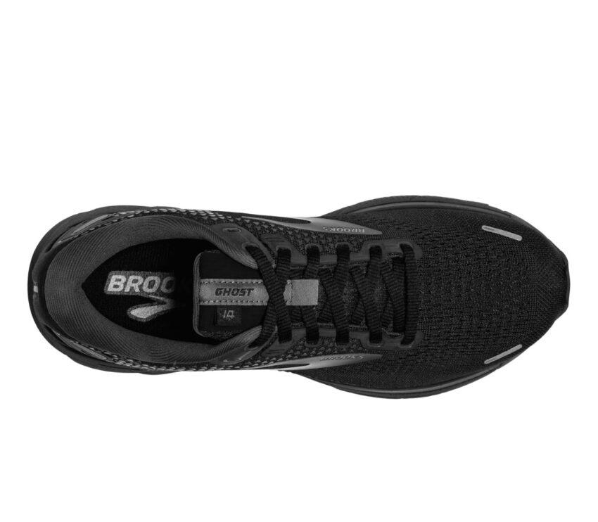 tomaia scarpa da running neutra pianta larga brooks ghost 14 nera